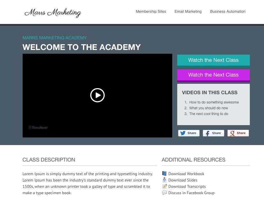 OptimizePress Membership Site