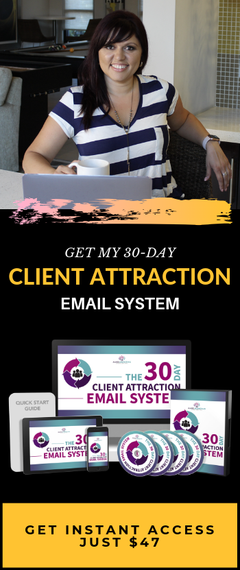 30-Day Client Attraction Email System banner